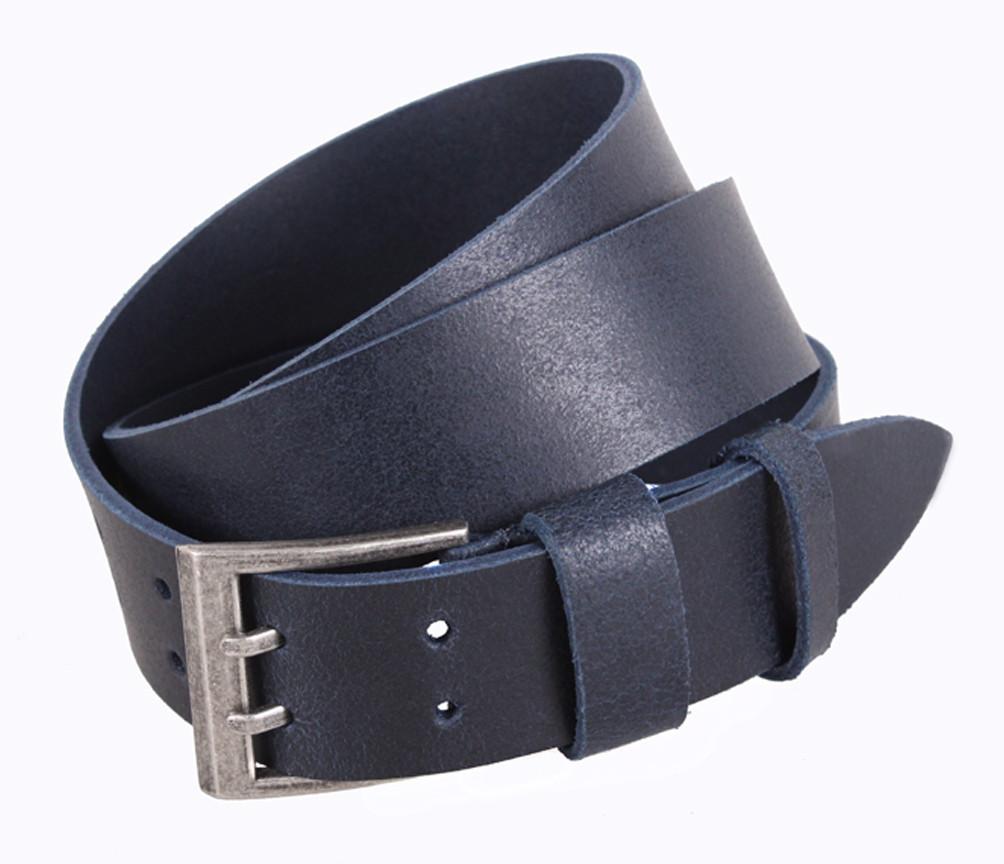 Мужской кожаный ремень Dovhani SP999-111 115-125 см Синий
