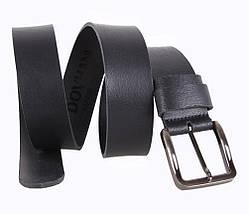 Мужской кожаный ремень Dovhani SP999-165 115-125 см Черный, фото 2