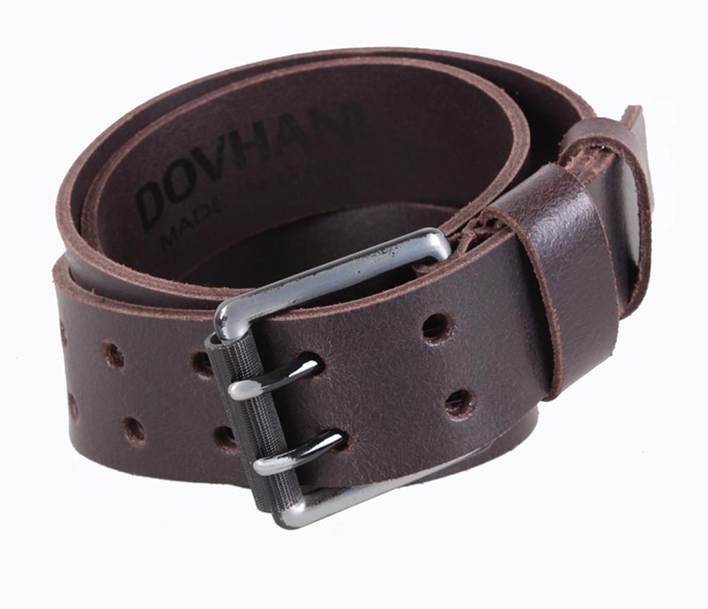 Мужской кожаный ремень Dovhani SP999-201 115-125 см Коричневый