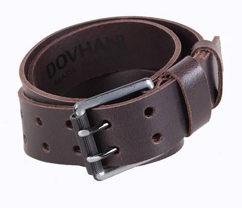 Мужской кожаный ремень Dovhani SP999-201 115-125 см Коричневый, фото 2