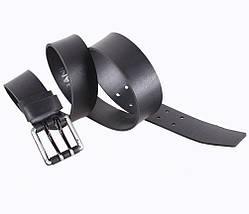 Мужской кожаный ремень Dovhani SP999-223 115-125 см Черный, фото 2