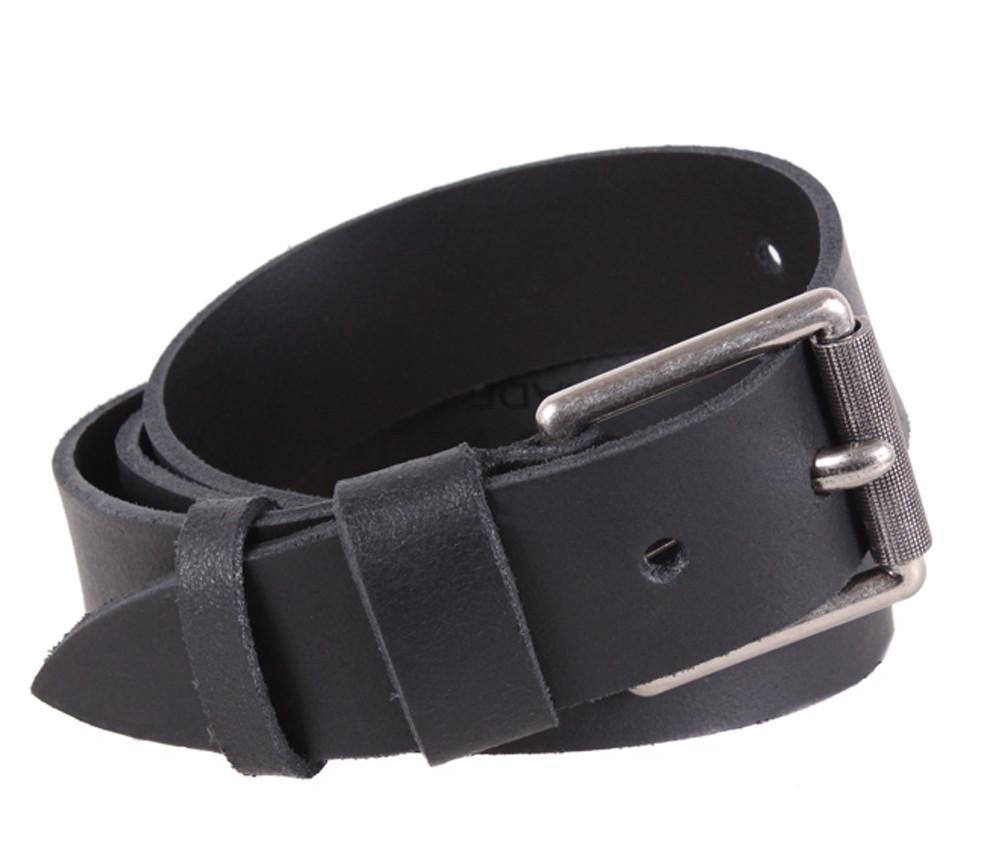 Мужской кожаный ремень Dovhani SP999-233 115-125 см Черный