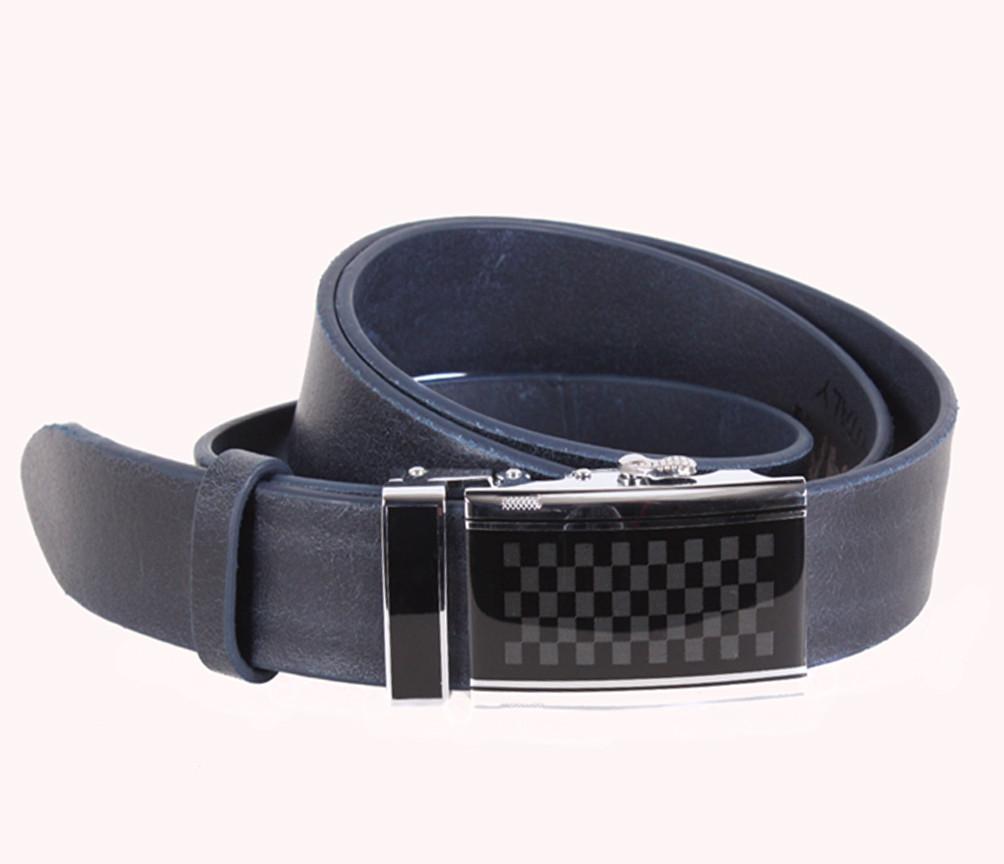 Мужской кожаный ремень Dovhani ASP888-299 115-125 см Синий