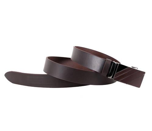 Мужской кожаный ремень Dovhani ALD666-288 115-125 см Коричневый, фото 2