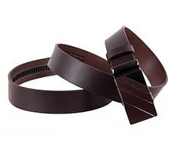 Мужской кожаный ремень Dovhani ALD666-288 115-125 см Коричневый, фото 3
