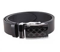 Мужской кожаный ремень Dovhani ALD666-301 115-125 см Черный, фото 1
