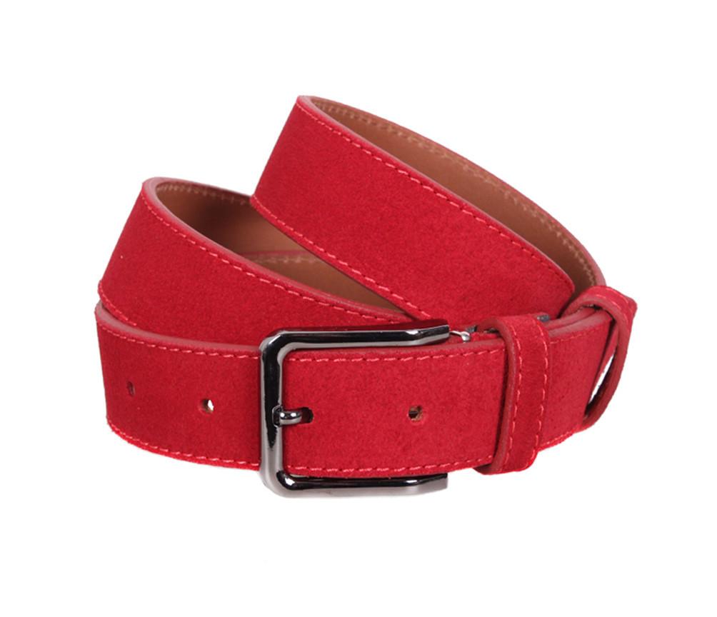 Мужской замшевый ремень Dovhani Z63-233 115-125 см Красный