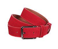 Мужской замшевый ремень Dovhani Z63-233 115-125 см Красный, фото 1