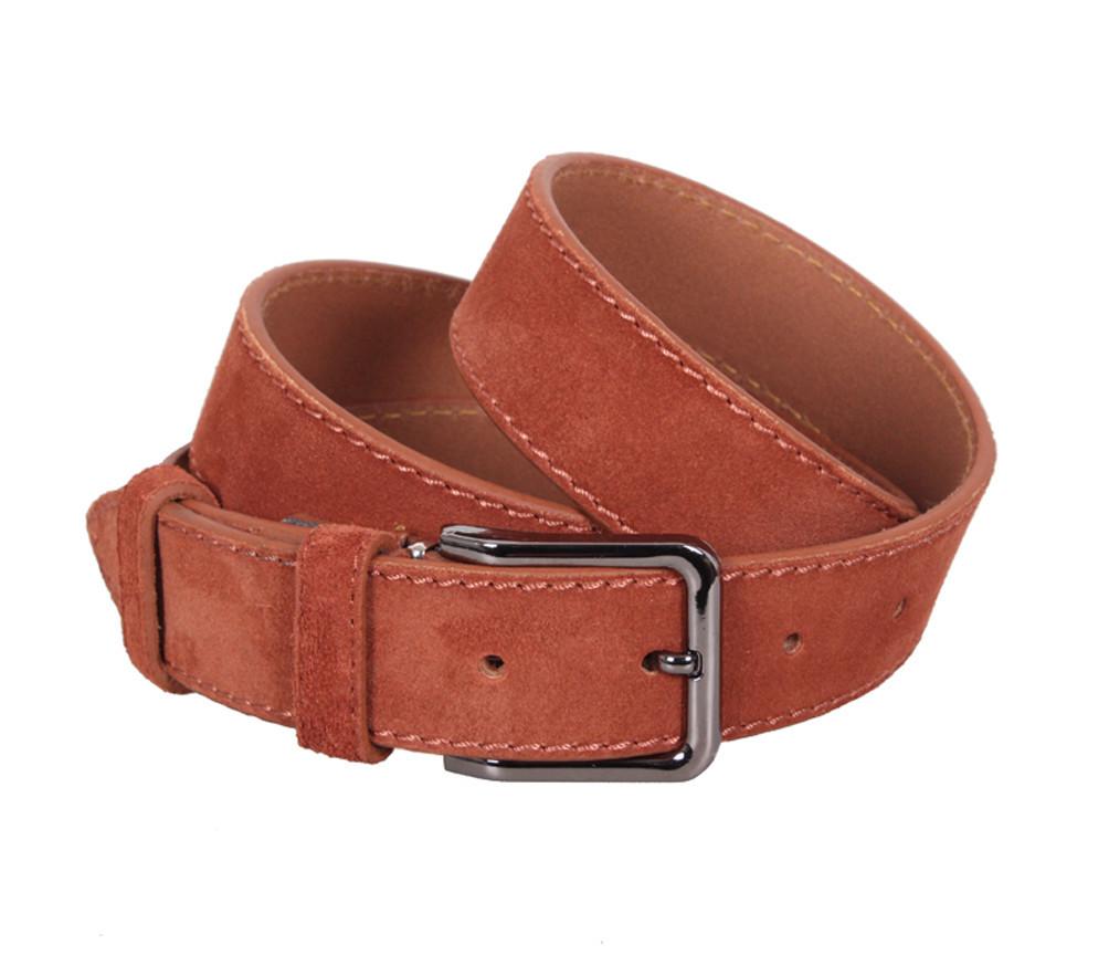 Мужской замшевый ремень Dovhani Z63-266 115-125 см Рыжий