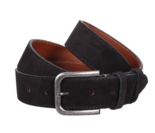 Мужской замшевый ремень Dovhani Z63-66 115-125 см Черный, фото 2