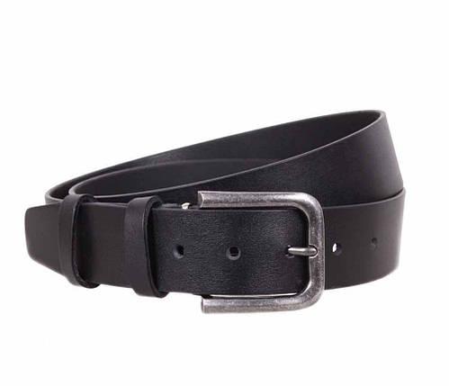Мужской кожаный ремень Dovhani LT8702-199 115-125 см Черный, фото 2
