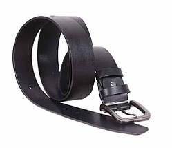 Мужской кожаный ремень Dovhani LT8702-199 115-125 см Черный, фото 3
