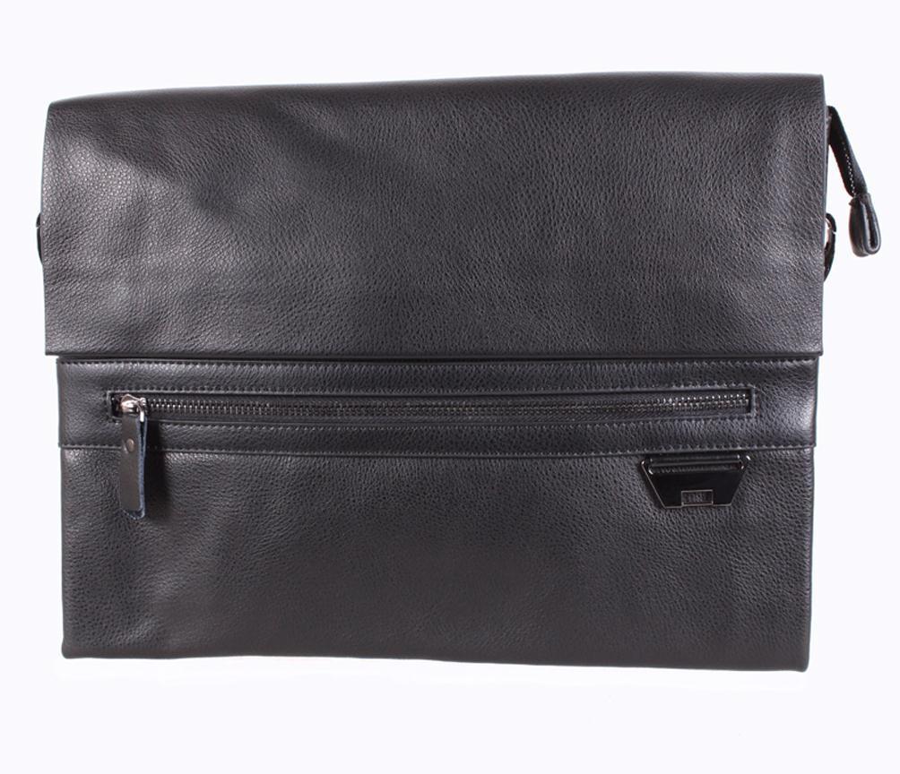 Мужская кожаная сумка под А4 Dovhani-3001722 Black172 Черная