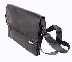 Мужская кожаная сумка под А4 Dovhani-3001722 Black172 Черная, фото 2