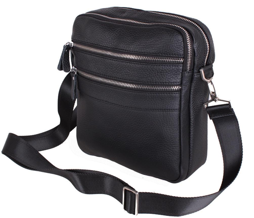 Мужская кожаная сумка Dovhani Dov-201289 Черная, фото 1
