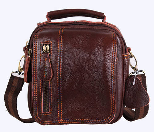 Мужская кожаная сумка Dovhani Dov-673-11 Коричневая , фото 2