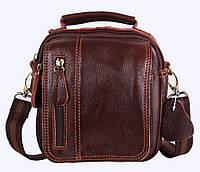 Мужская кожаная сумка Dovhani Dov-673-11 Коричневая , фото 1