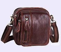 Мужская кожаная сумка Dovhani Dov-6733 Коричневая, фото 1