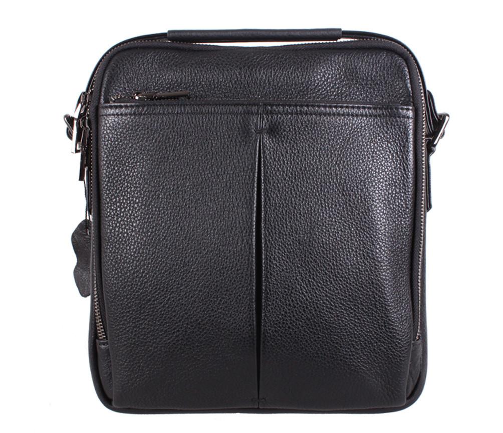 Мужская кожаная сумка Dovhani DL422-33 Черная