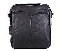 Мужская кожаная сумка Dovhani DL422-33 Черная, фото 1