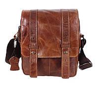 Мужская кожаная сумка Dovhani BR15405 Рыжая, фото 1