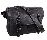 Мужская кожаная сумка Dovhani BBC98615-10 Черная, фото 1