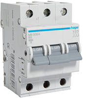 Автоматичний вимикач 3P 6kA B-6A 3M
