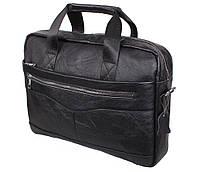 Мужская кожаная сумка Dovhani Dov-1118BL2 Черная, фото 1