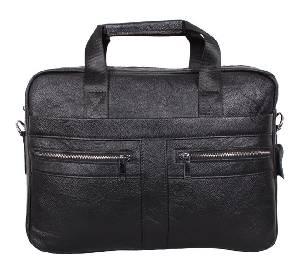 Мужская кожаная сумка Dovhani Dov-1120-175 Черная, фото 1