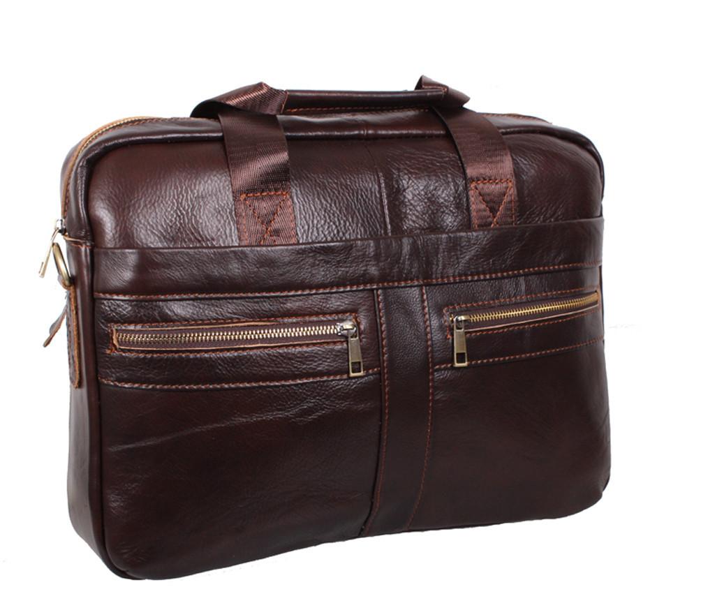 Мужская кожаная сумка Dovhani Dov-1120-286 Коричневая