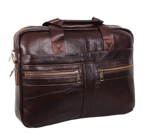 Мужская кожаная сумка Dovhani Dov-1120-286 Коричневая, фото 2