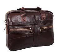 Мужская кожаная сумка Dovhani Dov-1120-286 Коричневая, фото 1