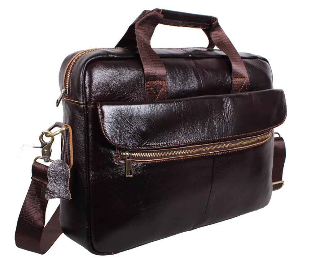 Мужская кожаная сумка Dovhani Dov-1119-235 Коричневая