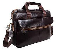 Мужская кожаная сумка Dovhani Dov-1119-235 Коричневая, фото 1