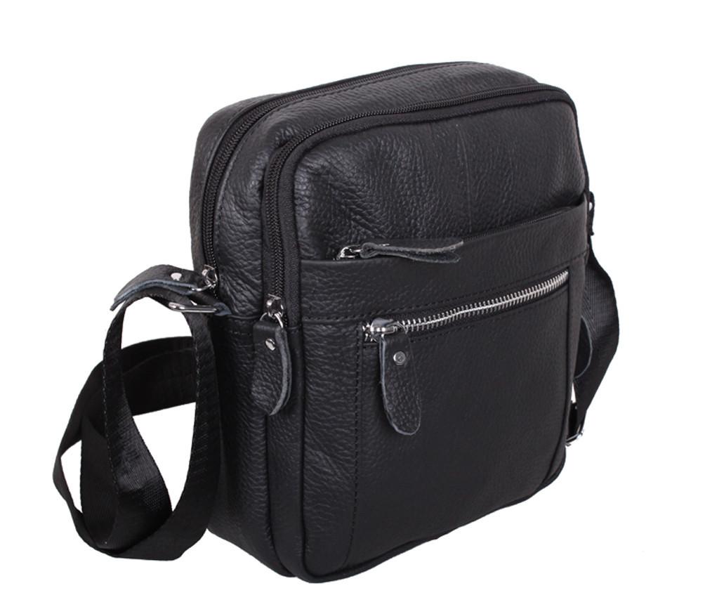 Мужская кожаная сумка Dovhani Dov-3922-45 Черная