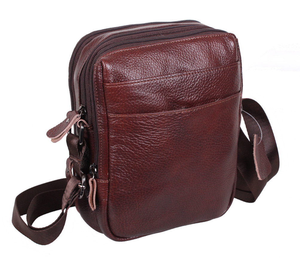 Мужская кожаная сумка Dovhani Dov-8143-54 Коричневая