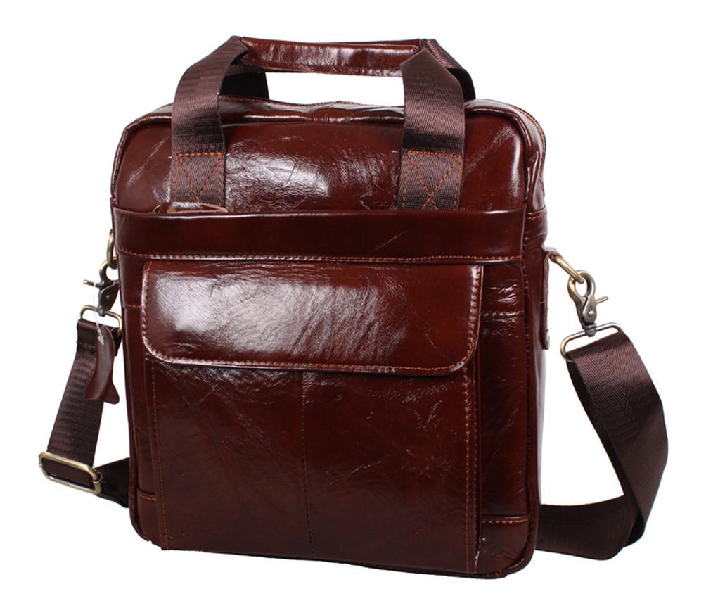 Мужская кожаная сумка Dovhani Dov-88615 Коричневая