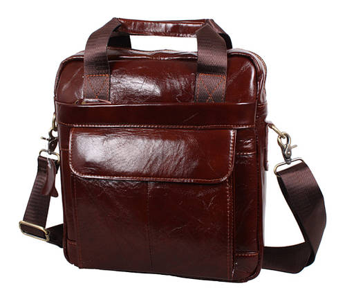 Мужская кожаная сумка Dovhani Dov-88615 Коричневая, фото 2