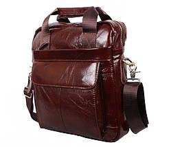 Мужская кожаная сумка Dovhani Dov-88615 Коричневая, фото 3