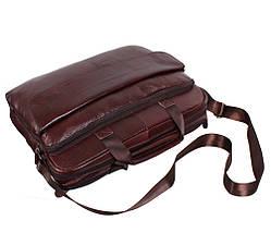 Сумка кожаная для ноутбука 17 дюймов Dovhani Dov8142521 Коричневая, фото 3