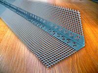 Уголок пластиковый перфорированный с армирующей сеткой 3 метра