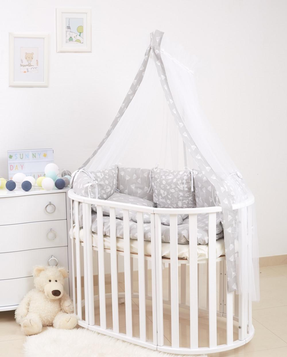 Детская постель Twins Dolce D-016 Лісові мешканці 8 ел grey  (Постіль твинс)