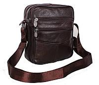 Мужская кожаная сумка Dovhani Bon-2011-127 Коричневая 11.5 х 20 х 7,5-9см, фото 1