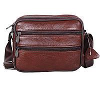 Мужская кожаная сумка Dovhani Bon-235589 Коричневая, фото 1