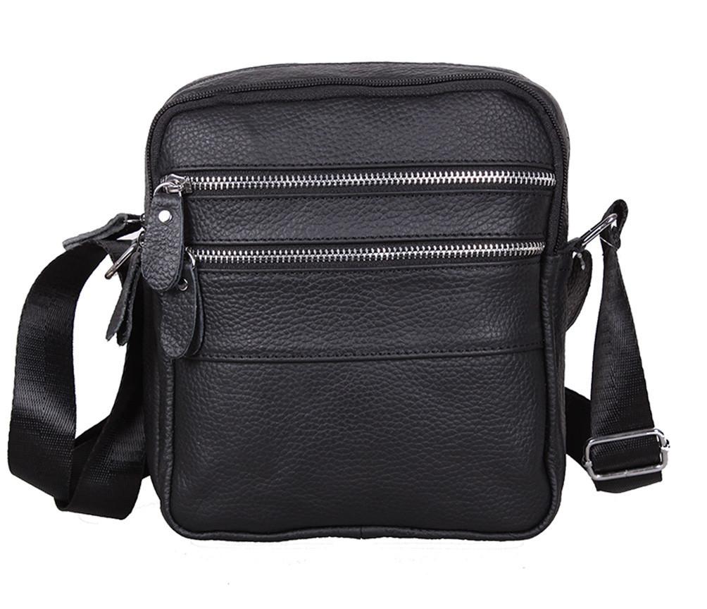Мужская кожаная сумка Dovhani Bon-392339245 Черная