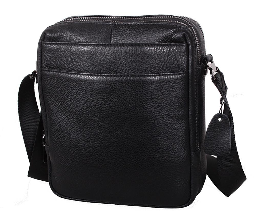 Мужская кожаная сумка Dovhani DL8080-66789 Черная