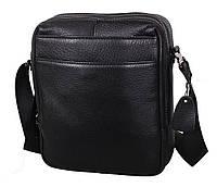 Мужская кожаная сумка Dovhani DL8080-66789 Черная, фото 1