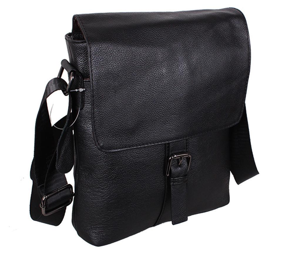 Мужская кожаная сумка Dovhani R0028 Черная