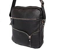 Мужская кожаная сумка Dovhani KT30012147 Черная 28x23x9см, фото 1
