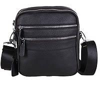 Мужская кожаная сумка Dovhani T3012888 Черная, фото 1